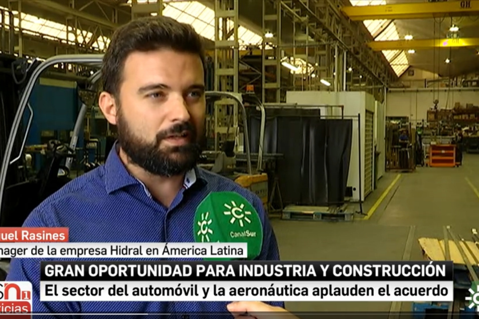 Canal sur News Interview Miguel Rasines, Area Manager