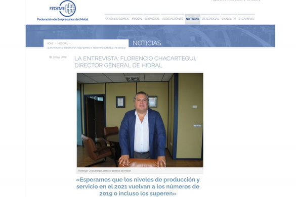 FEDEME interviews Florencio Chacartegui, CEO of Hidral